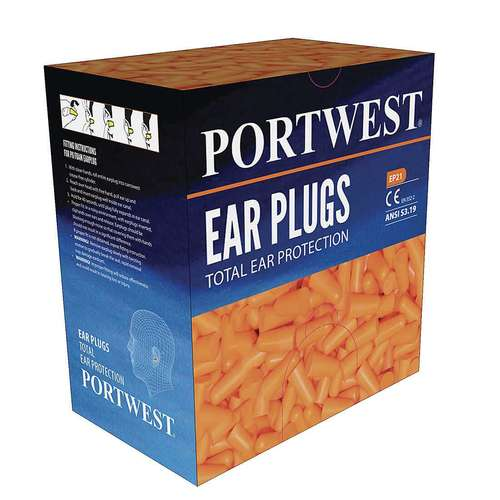 Portwest Ear Plug Dispenser Refill Pack (500 pairs)