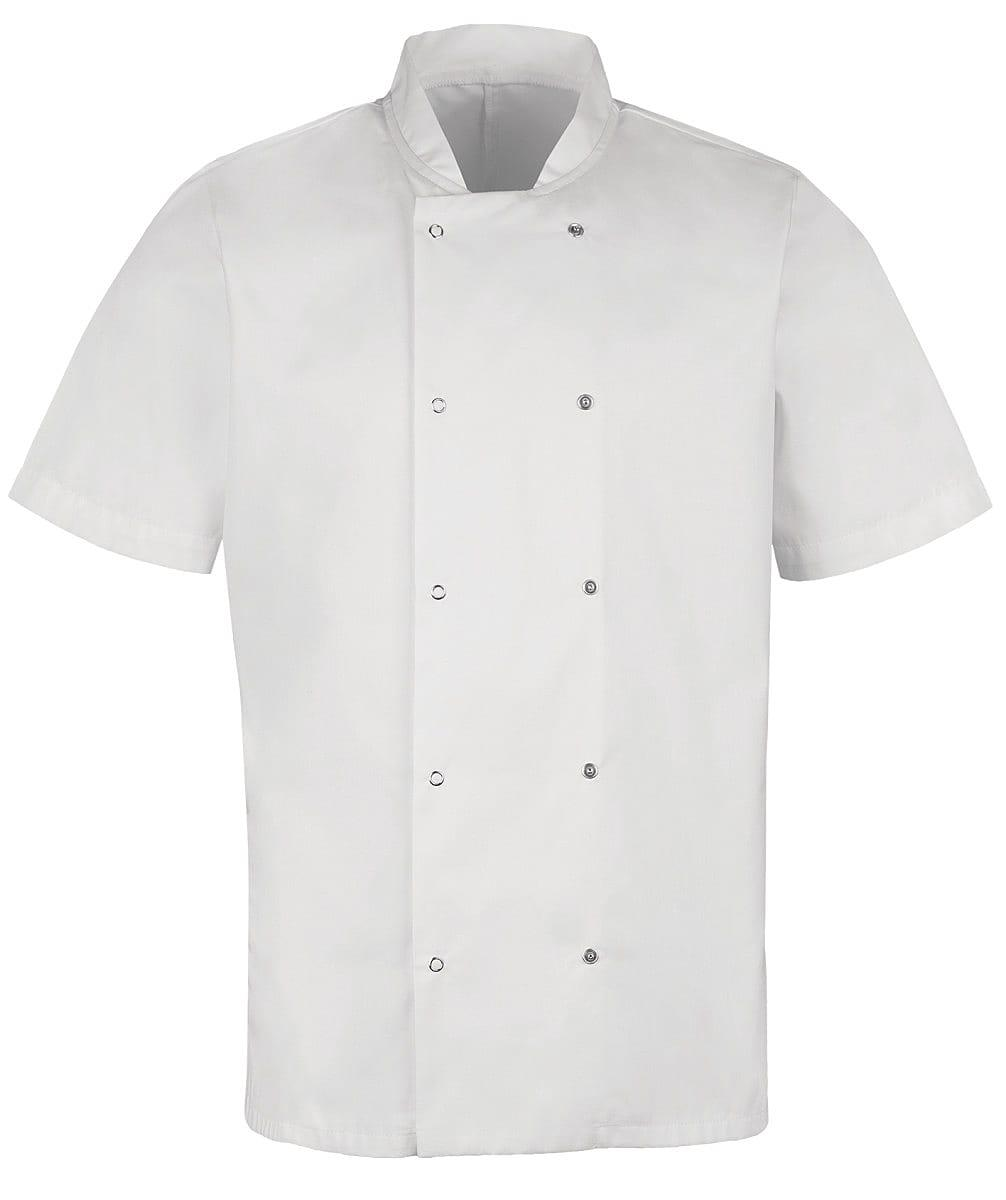 Alexandra Mens Short-Sleeve Chefs Jacket in White (Product Code: HO10)