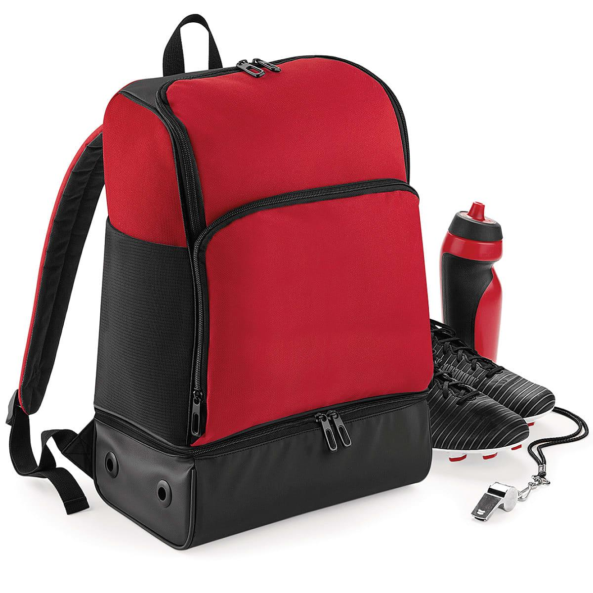 Bagbase Hardbase Sports Backpack in Classic Red / Black (Product Code: BG576)