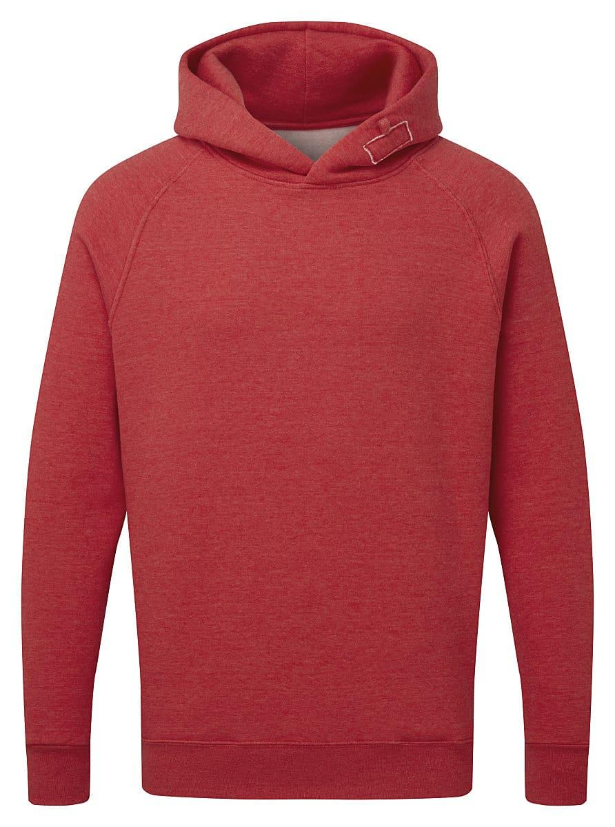 FDM Tagless Media Hoodie in Heather Fire Red (Product Code: TH002)
