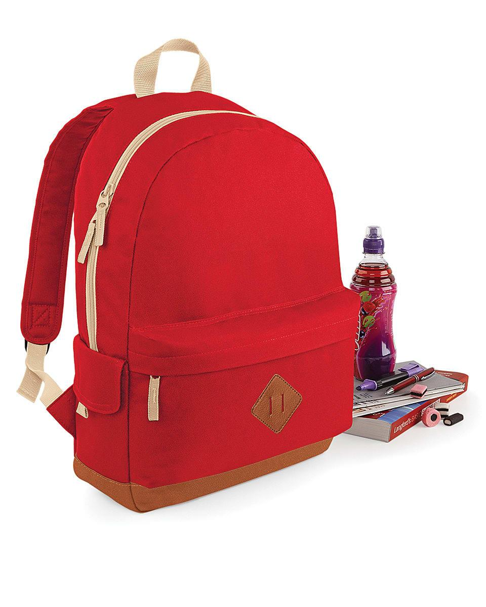 Bagbase Heritage Backpack in Classic Red (Product Code: BG825)