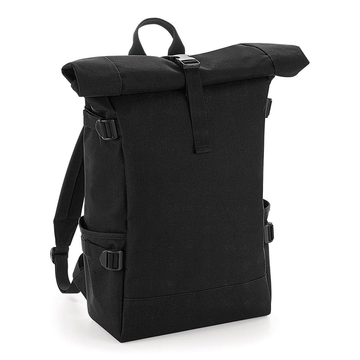 Bagbase Block Roll-Top Backpack in Black (Product Code: BG858)