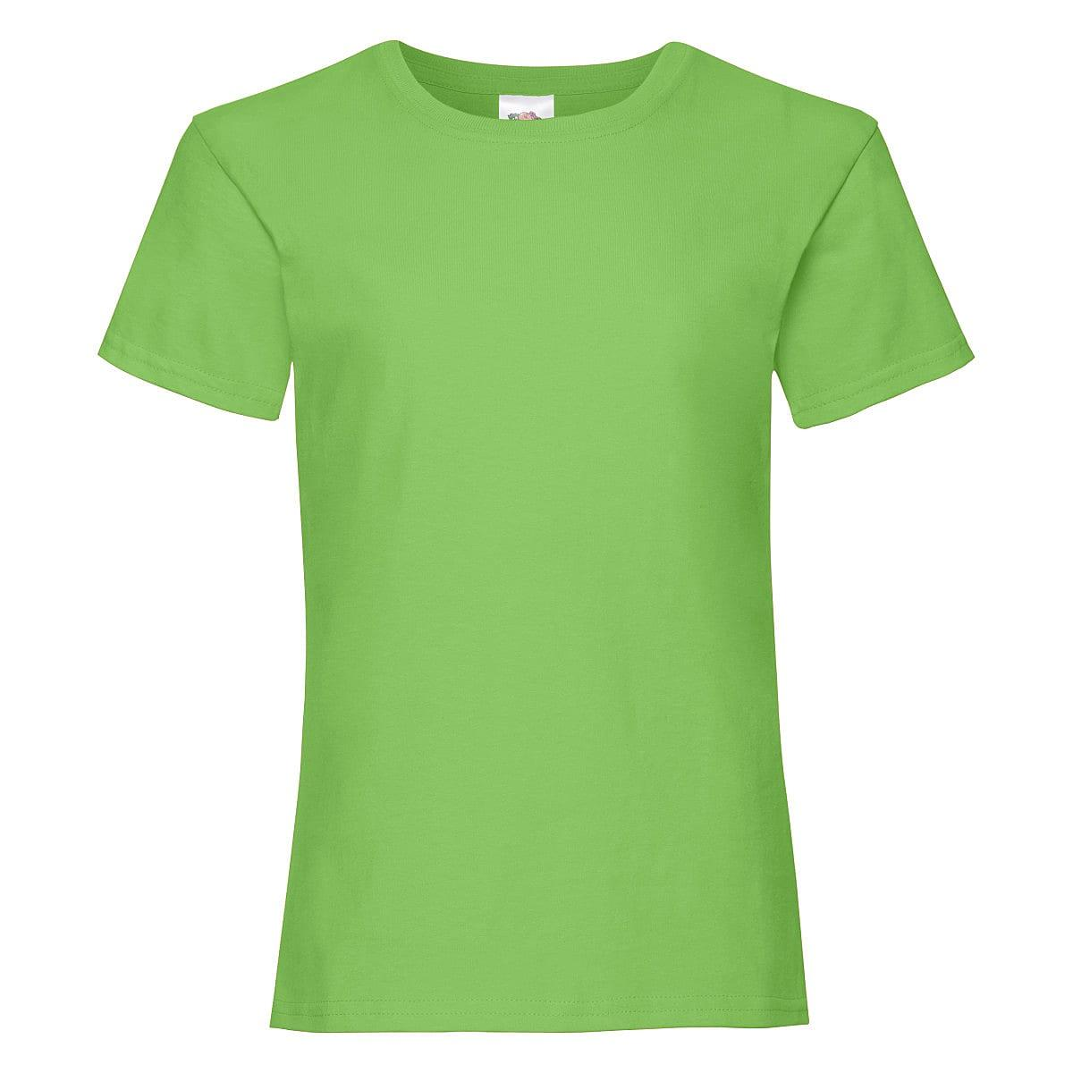 Fruit Of The Loom Girls Valueweight T-Shirt in Lime (Product Code: 61005)