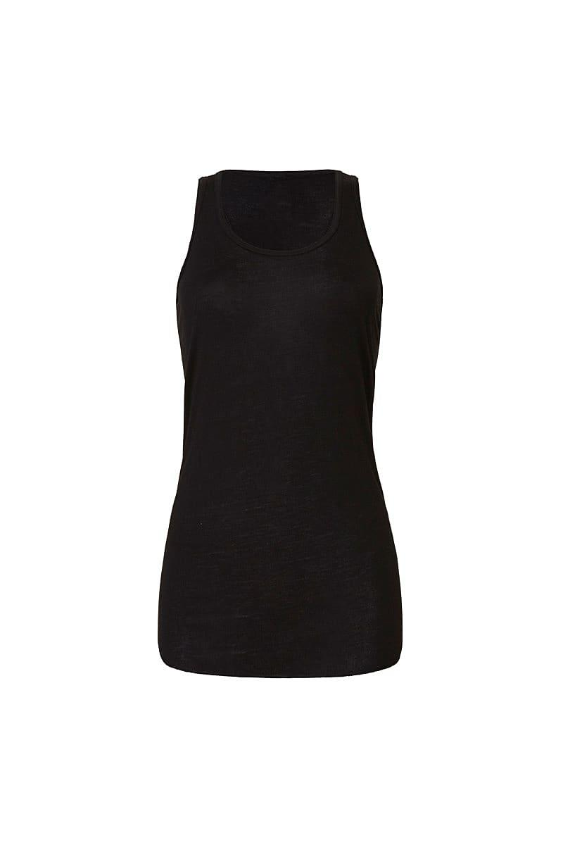 Bella Flowy Racerback Tank Top in Black (Product Code: BE8800)