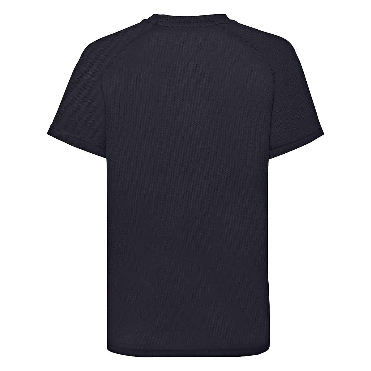 Fruit Of The Loom Childrens Kids Performance T-Shirt in Deep Navy (Product Code: 61013)