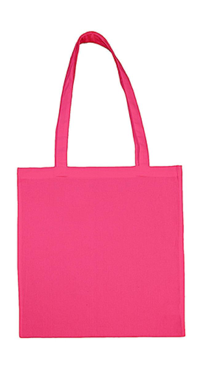 Jassz Bags Beech Cotton Long-Handle Bag in Pink (Product Code: 3842LH)