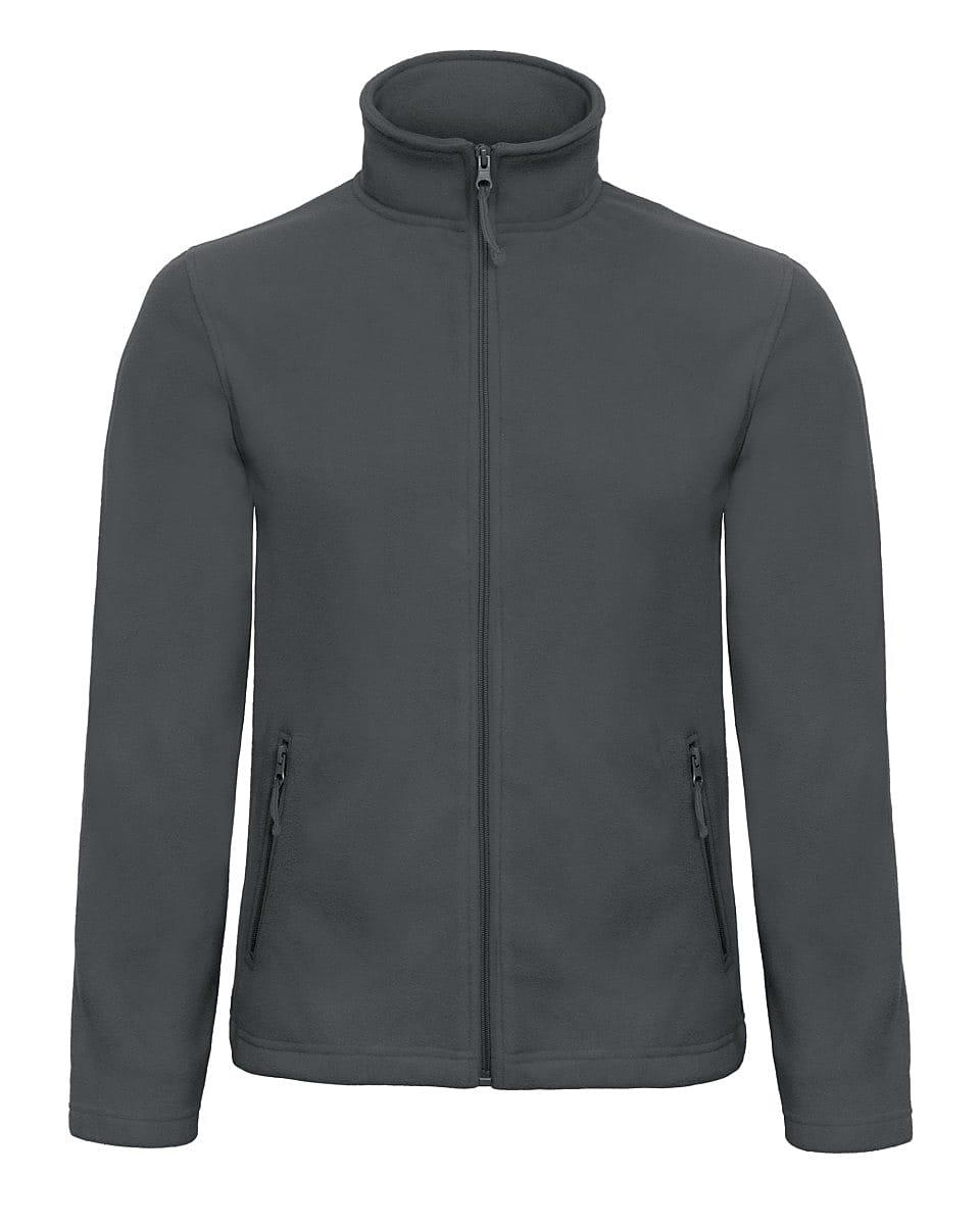 B&C Mens ID.501 Fleece Jacket in Dark Grey (Product Code: FUI50)