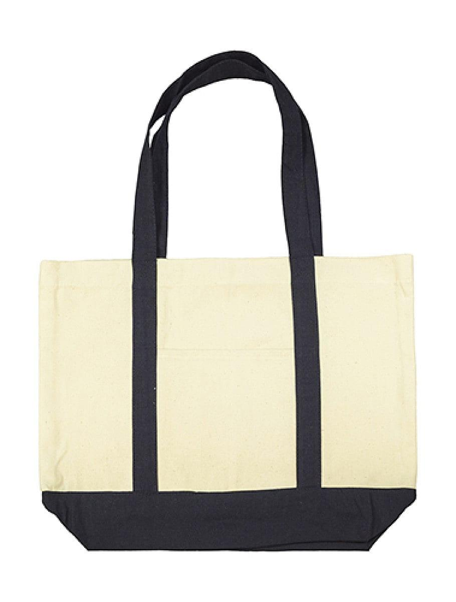 Jassz Bags Hazel Canvas Shopper in Natural / Navy (Product Code: CC4739BB)
