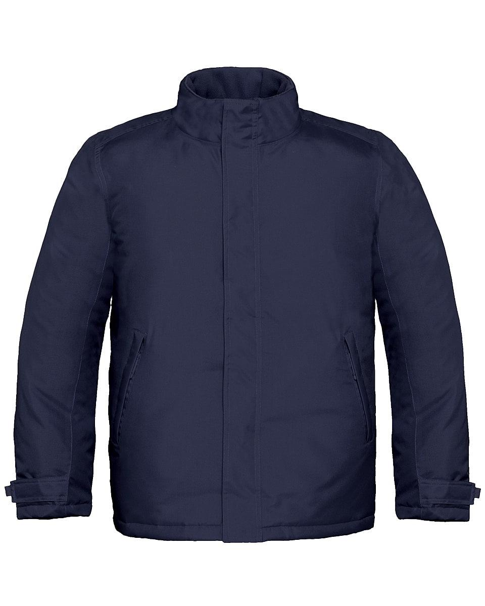 B&C Mens Real+ Jacket in Navy Blue (Product Code: JM970)