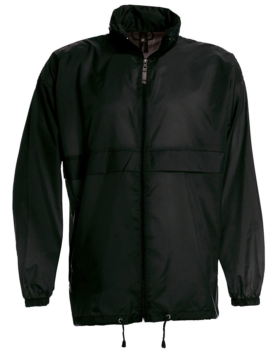 B&C Mens Sirocco Lightweight Jacket in Black (Product Code: JU800)