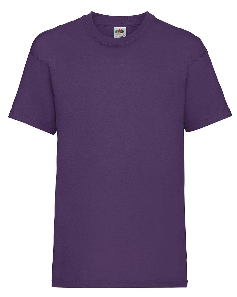 Fruit Of The Loom Childrens Valueweight T-Shirt in Purple (Product Code: 61033)