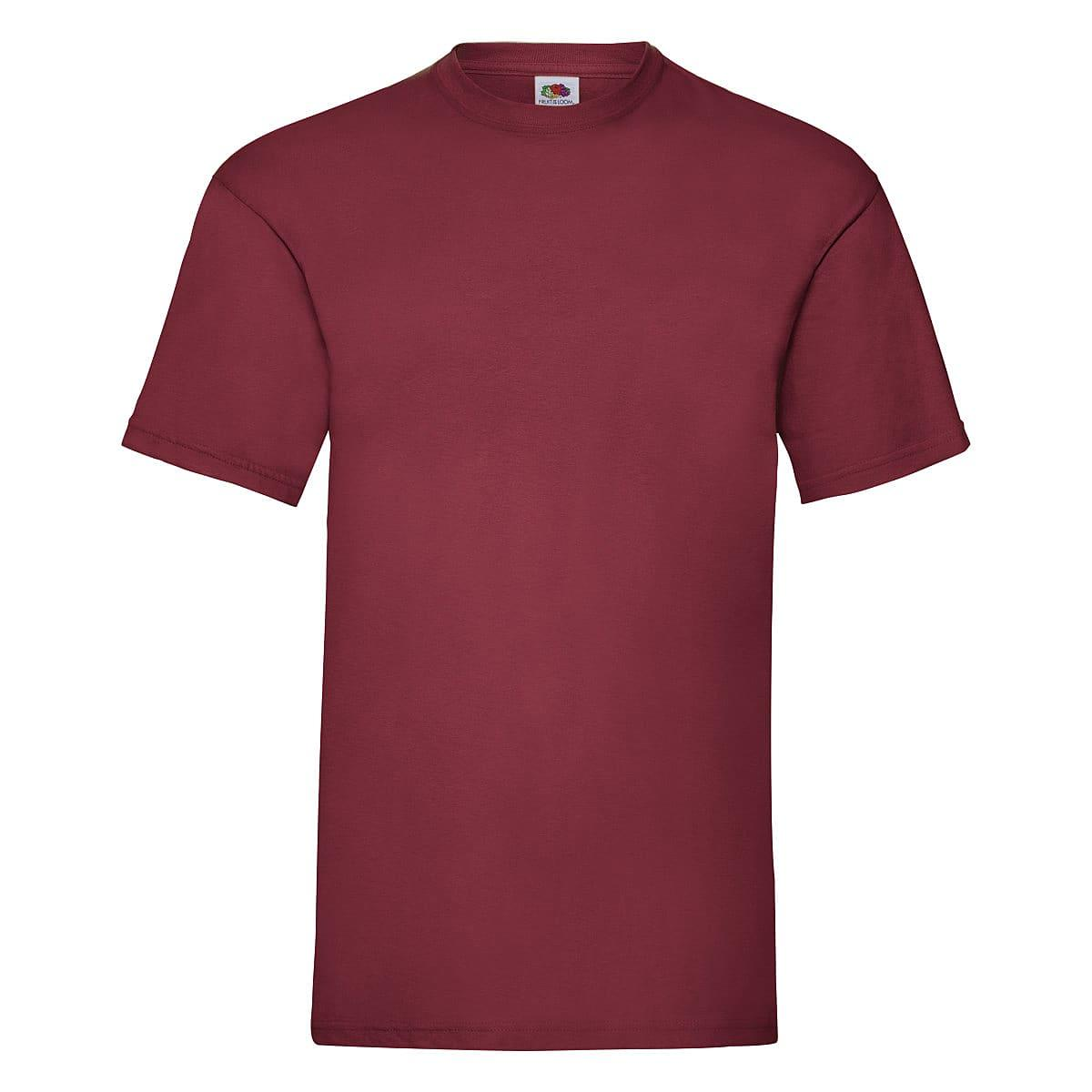 Fruit Of The Loom Valueweight T-Shirt in Brick Red (Product Code: 61036)