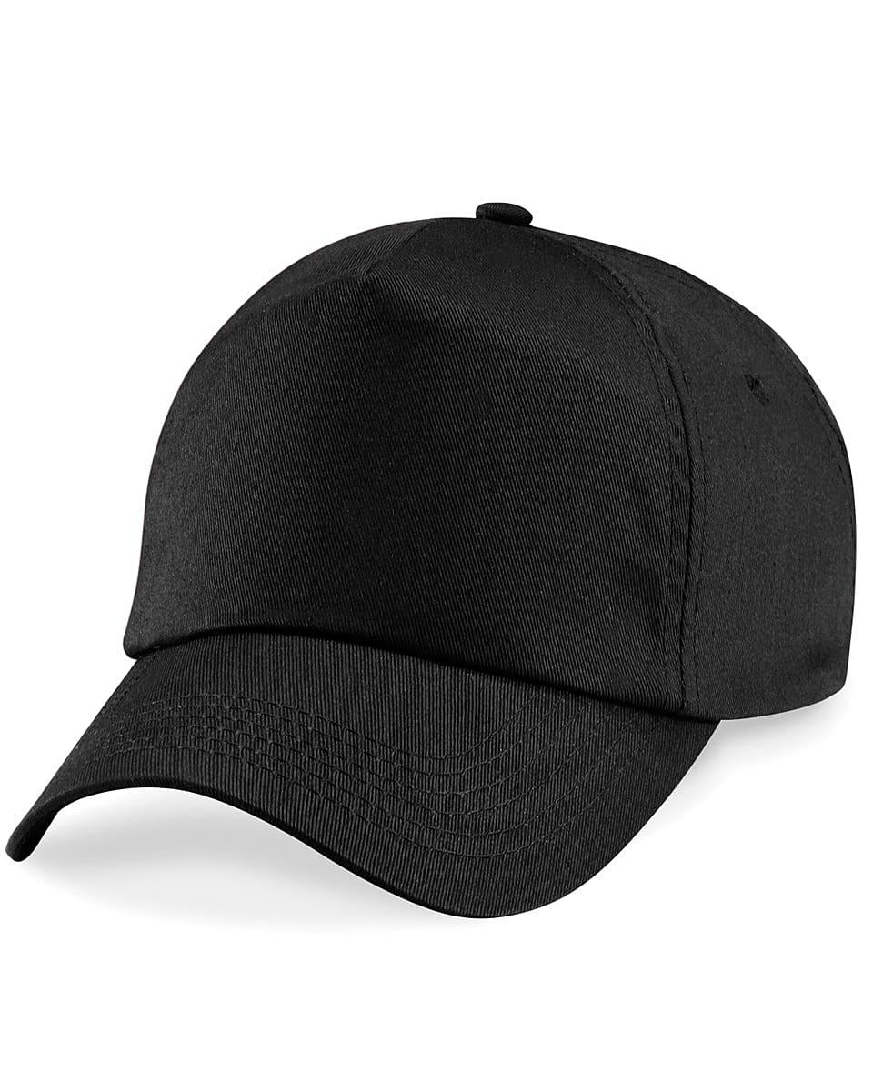 Beechfield Junior Original 5 Panel Cap in Black (Product Code: B10B)