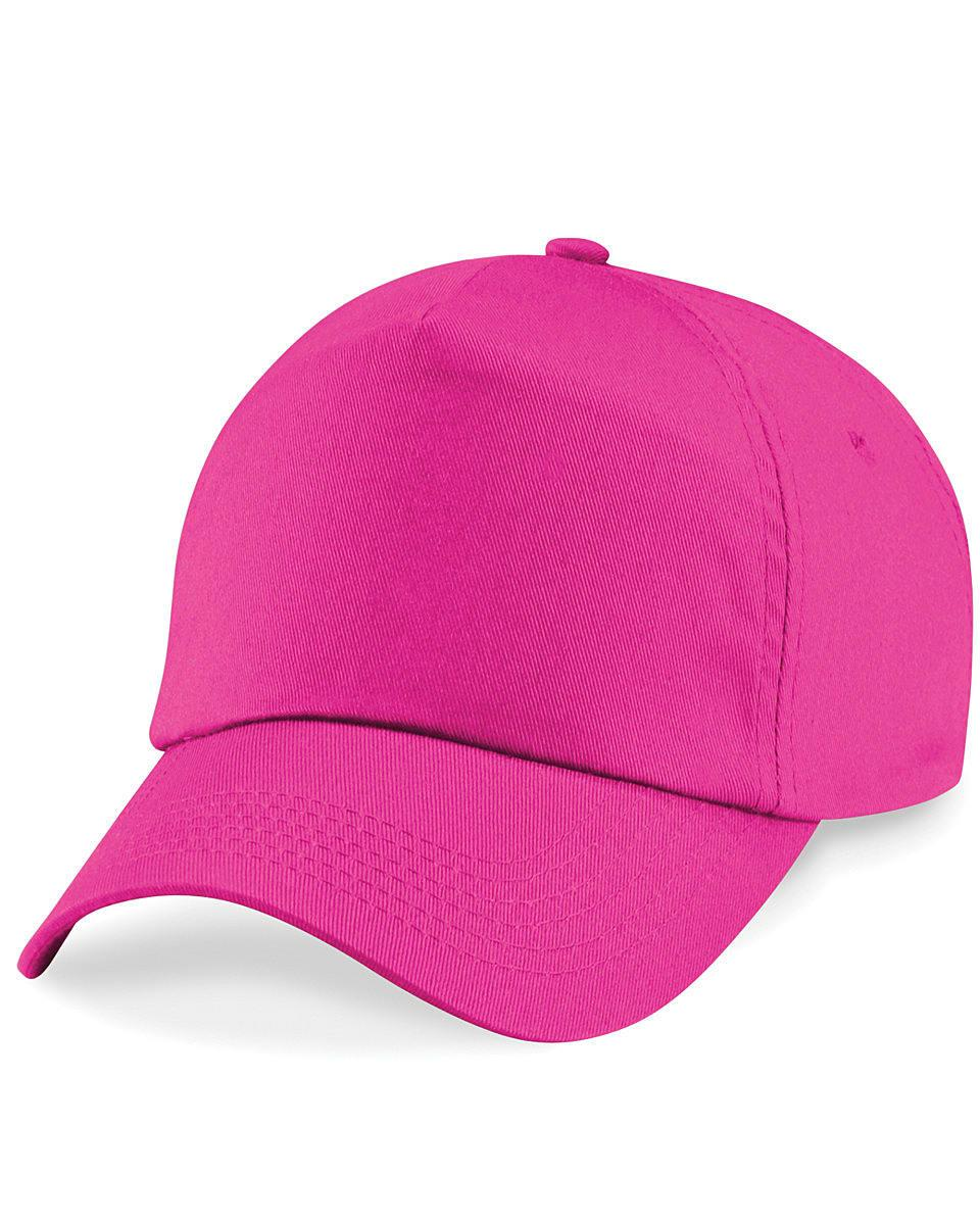 Beechfield Junior Original 5 Panel Cap in Fuchsia (Product Code: B10B)