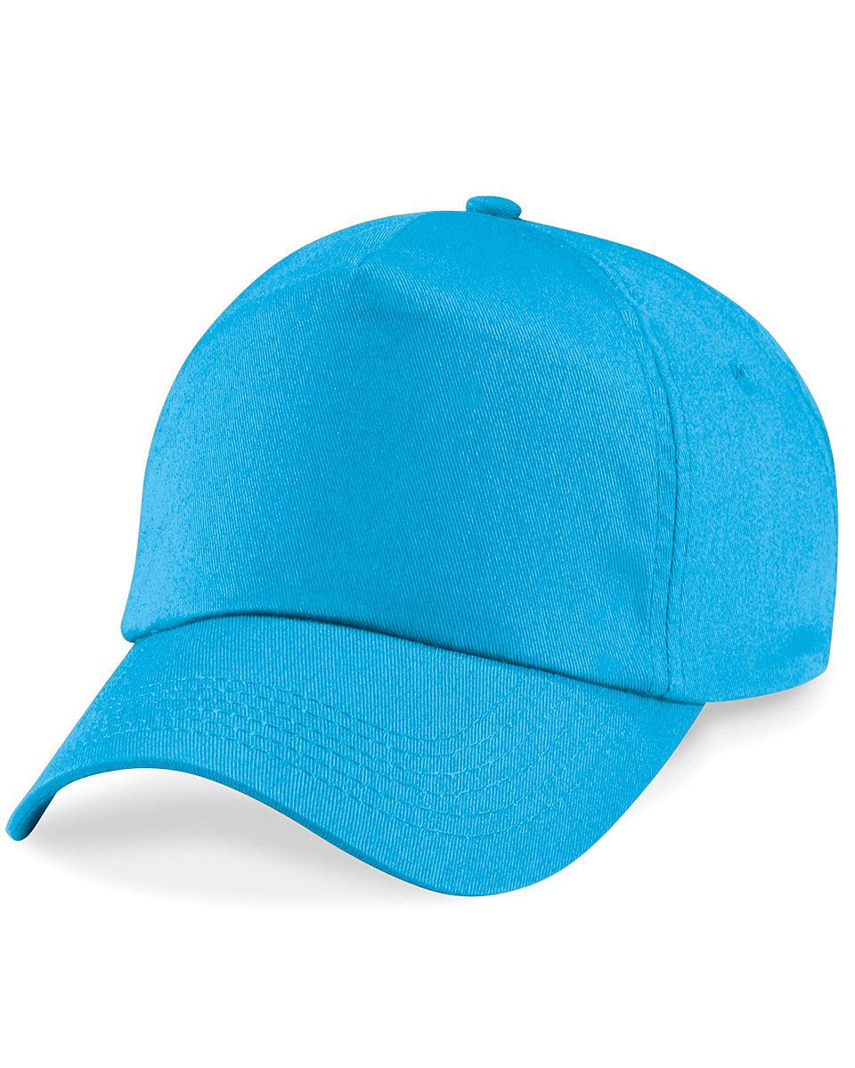 Beechfield Junior Original 5 Panel Cap in Surf Blue (Product Code: B10B)