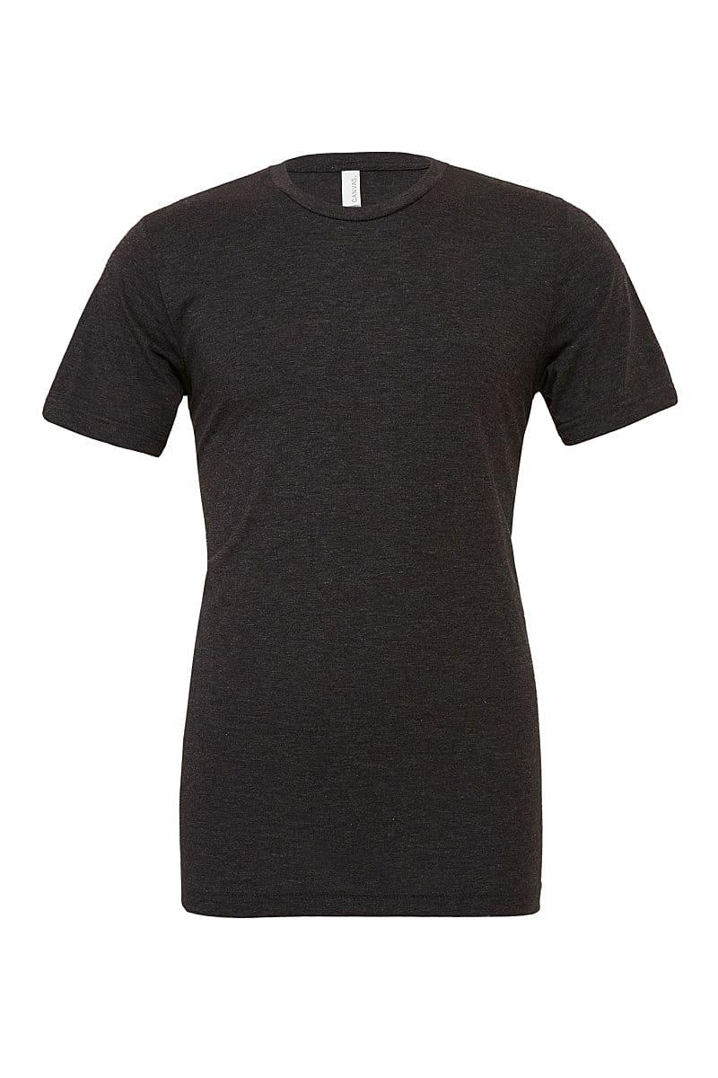 Bella Canvas Mens Tri-blend Short-Sleeve T-Shirt in Charcoal Black Triblend (Product Code: CA3413)