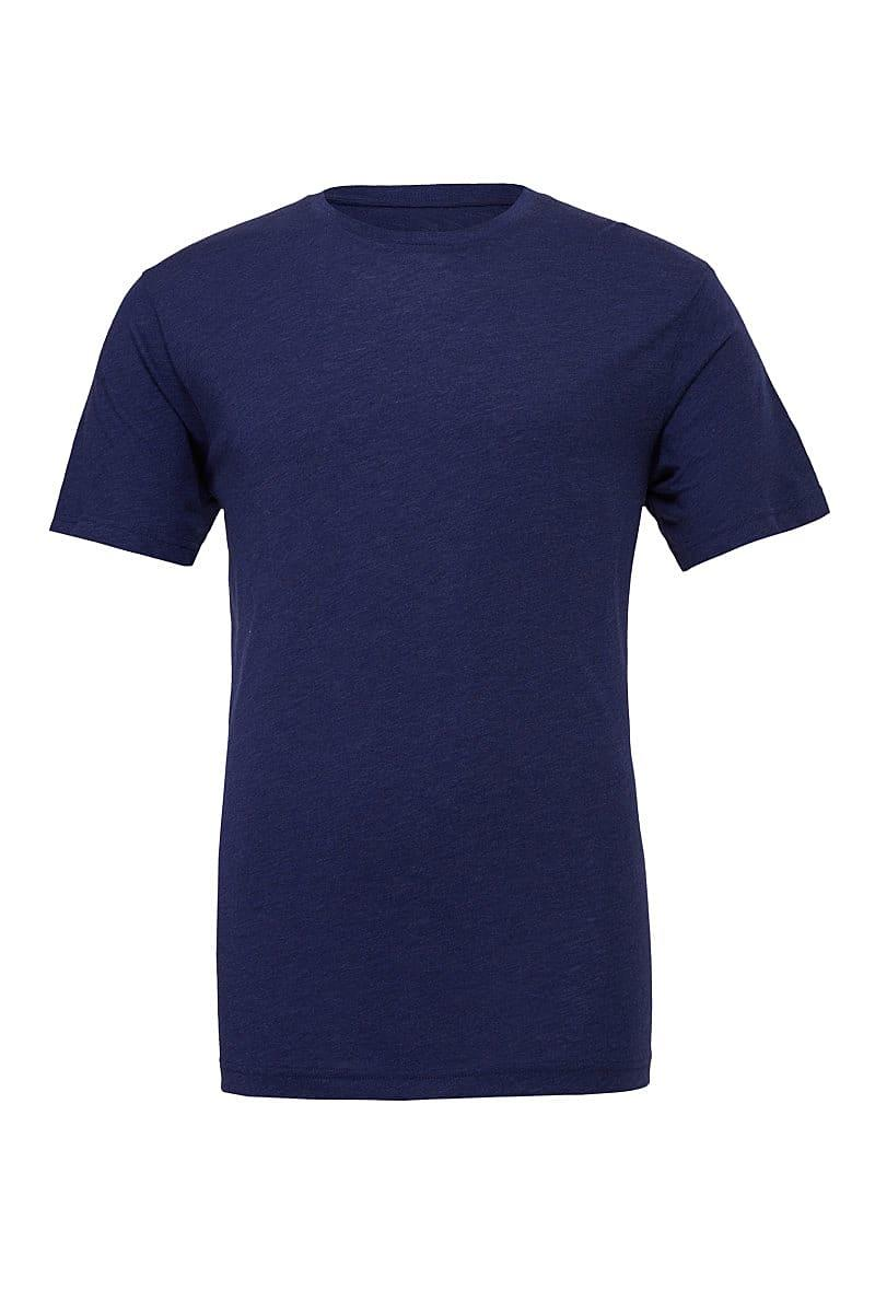 Bella Canvas Mens Tri-blend Short-Sleeve T-Shirt in Navy Triblend (Product Code: CA3413)