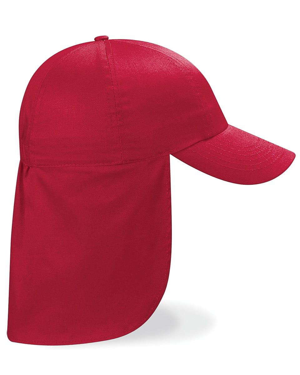 Beechfield Junior Legionnaire Style Cap in Classic Red (Product Code: B11B)