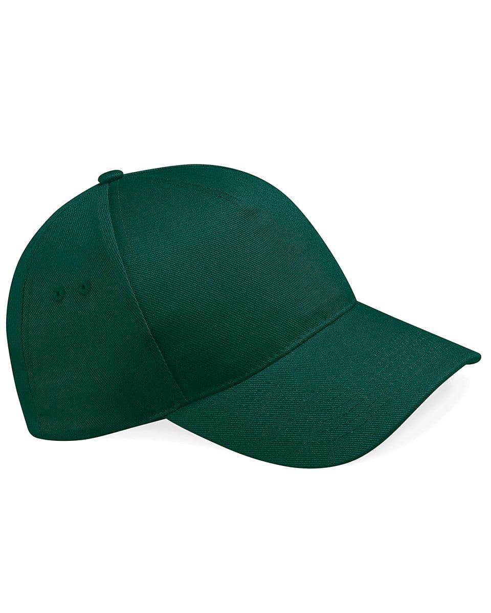 Beechfield Ultimate 5 Panel Cap in Bottle Green (Product Code: B15)