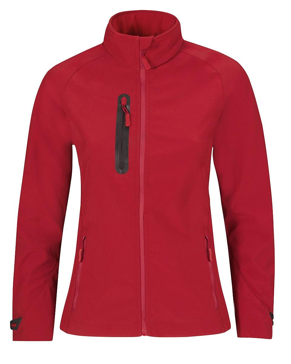 B&C Womens X Lite Softshell Jacket in Deep Red (Product Code: JW938)
