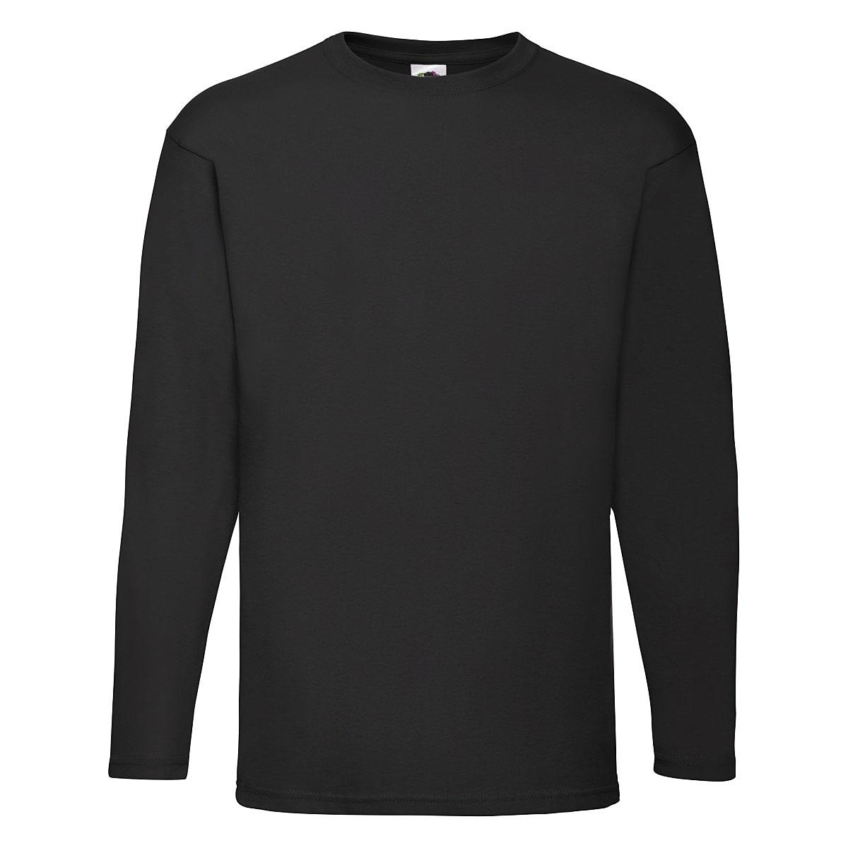 Fruit Of The Loom Valueweight Long-Sleeve T-Shirt in Black (Product Code: 61038)