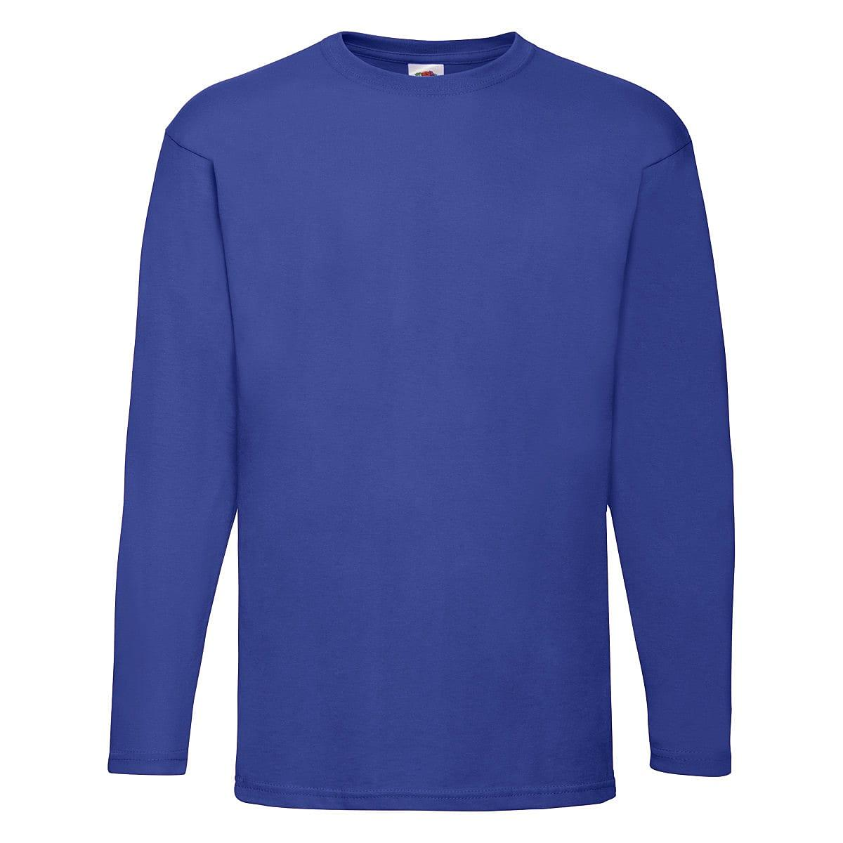 Fruit Of The Loom Valueweight Long-Sleeve T-Shirt in Royal Blue (Product Code: 61038)