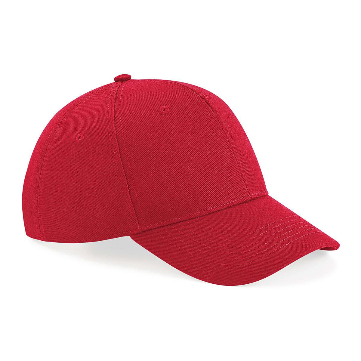 Beechfield Untimate 6 Panel Cap in Classic Red (Product Code: B18)
