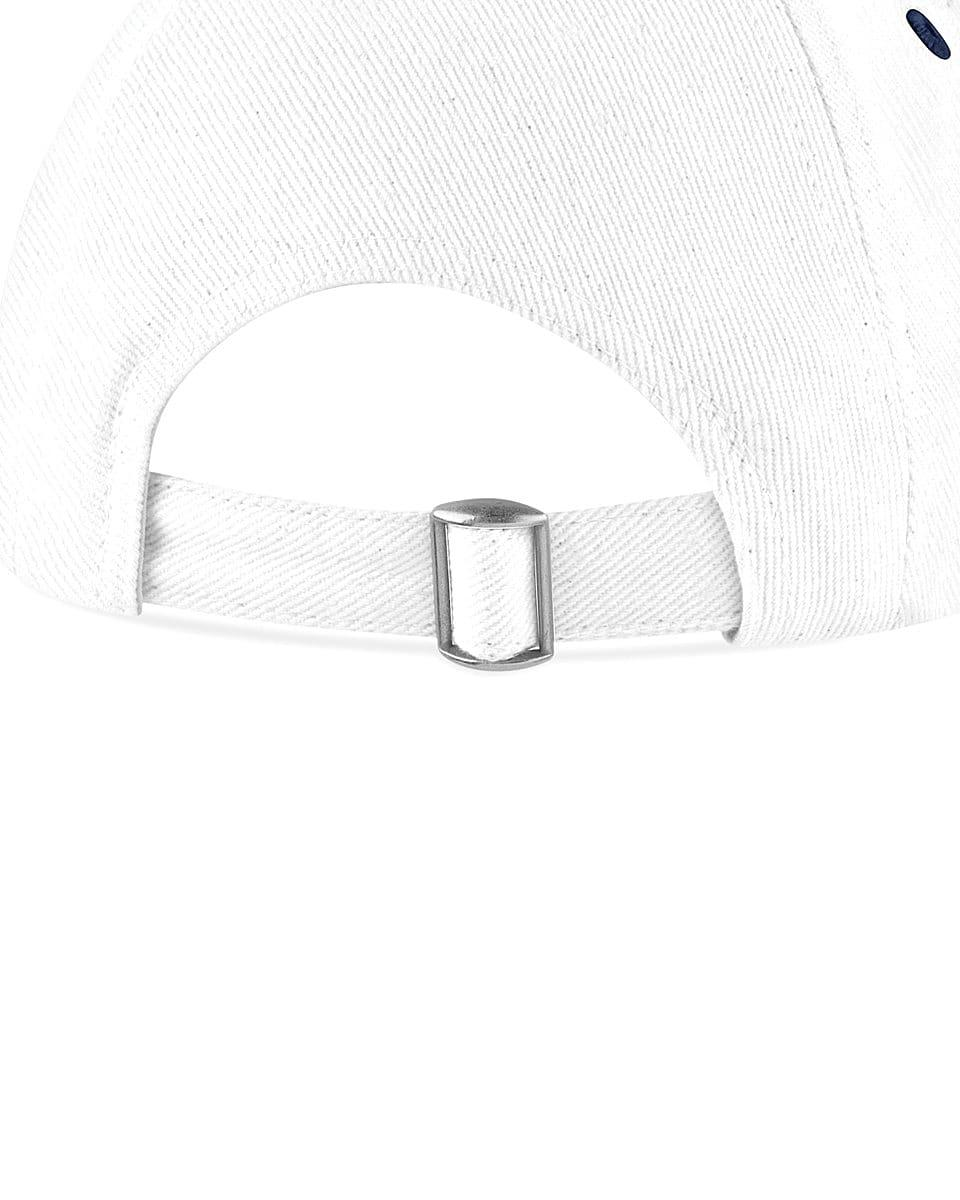 Beechfield Golf Ball Marker Cap in White / French Navy (Product Code: B185)