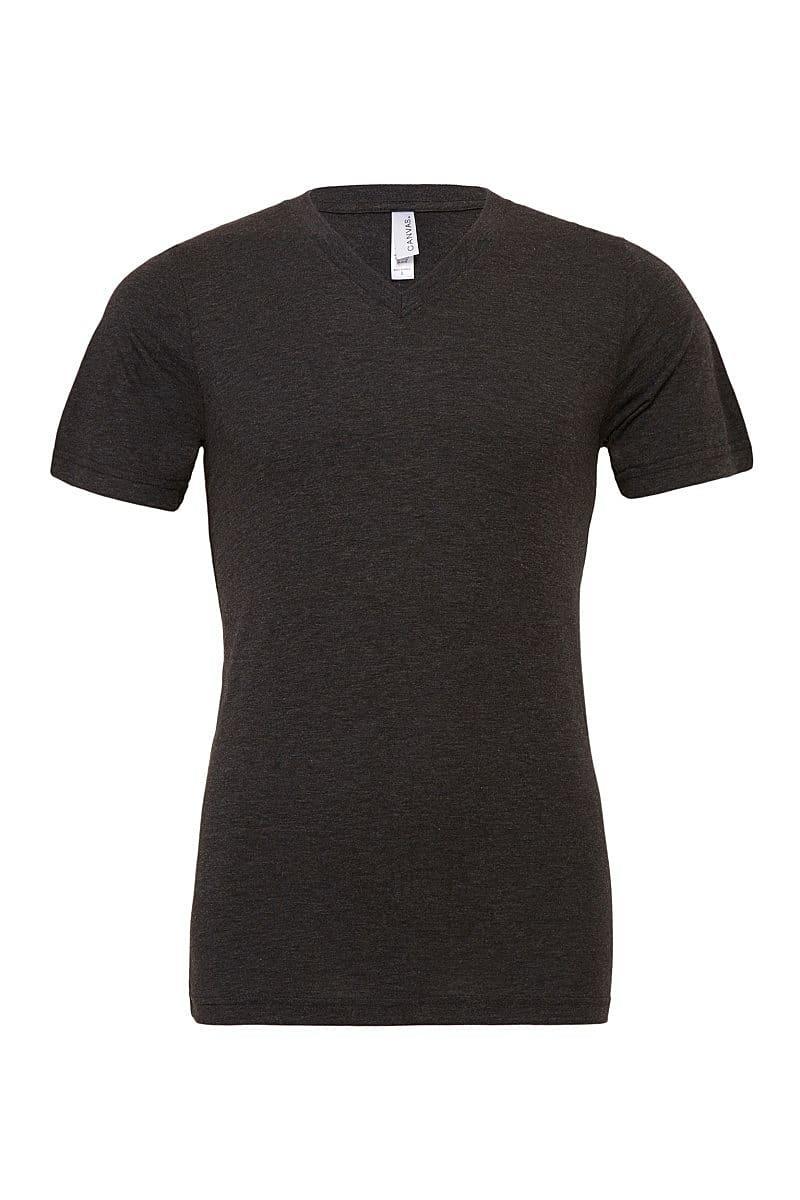 Bella Triblend V-Neck T-Shirt in Charcoal Black Triblend (Product Code: CA3415)