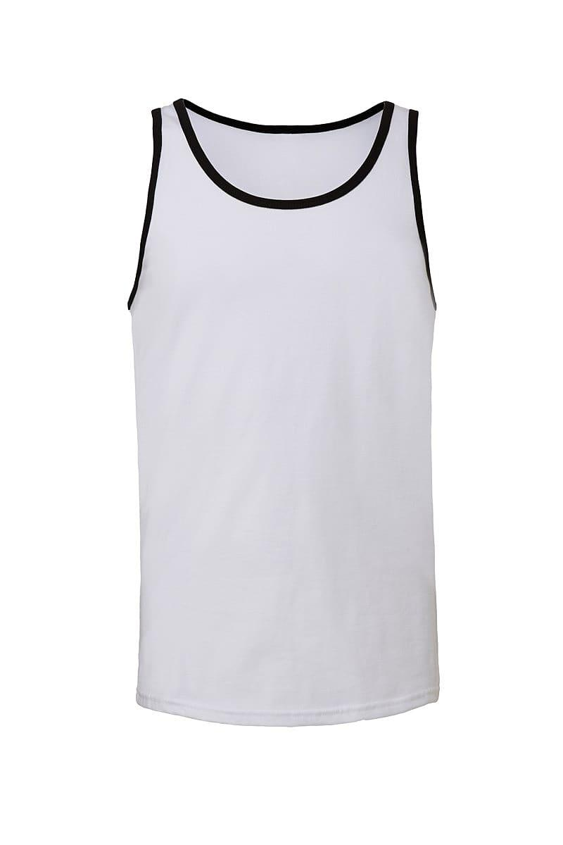 Bella Unisex Jersey Tank in White / Black (Product Code: CA3480)