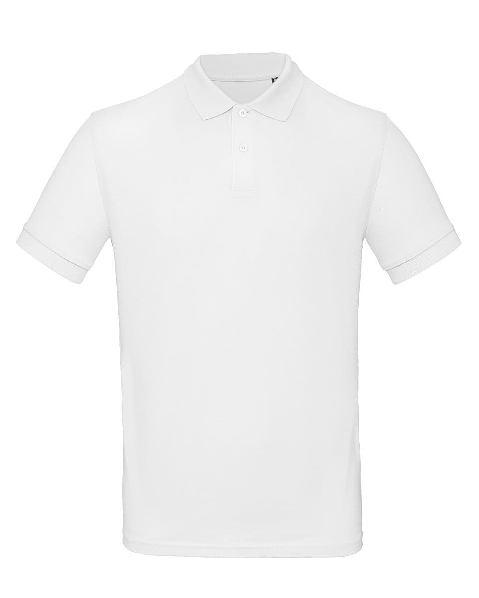 B&C Mens Inspire Polo Shirt in White (Product Code: PM430)