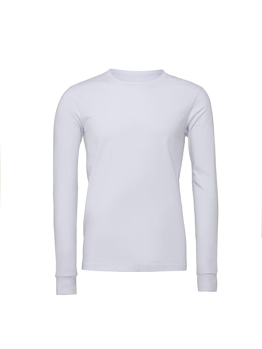 Bella Unisex Jersey Long-Sleeve T-Shirt in White (Product Code: CA3501)