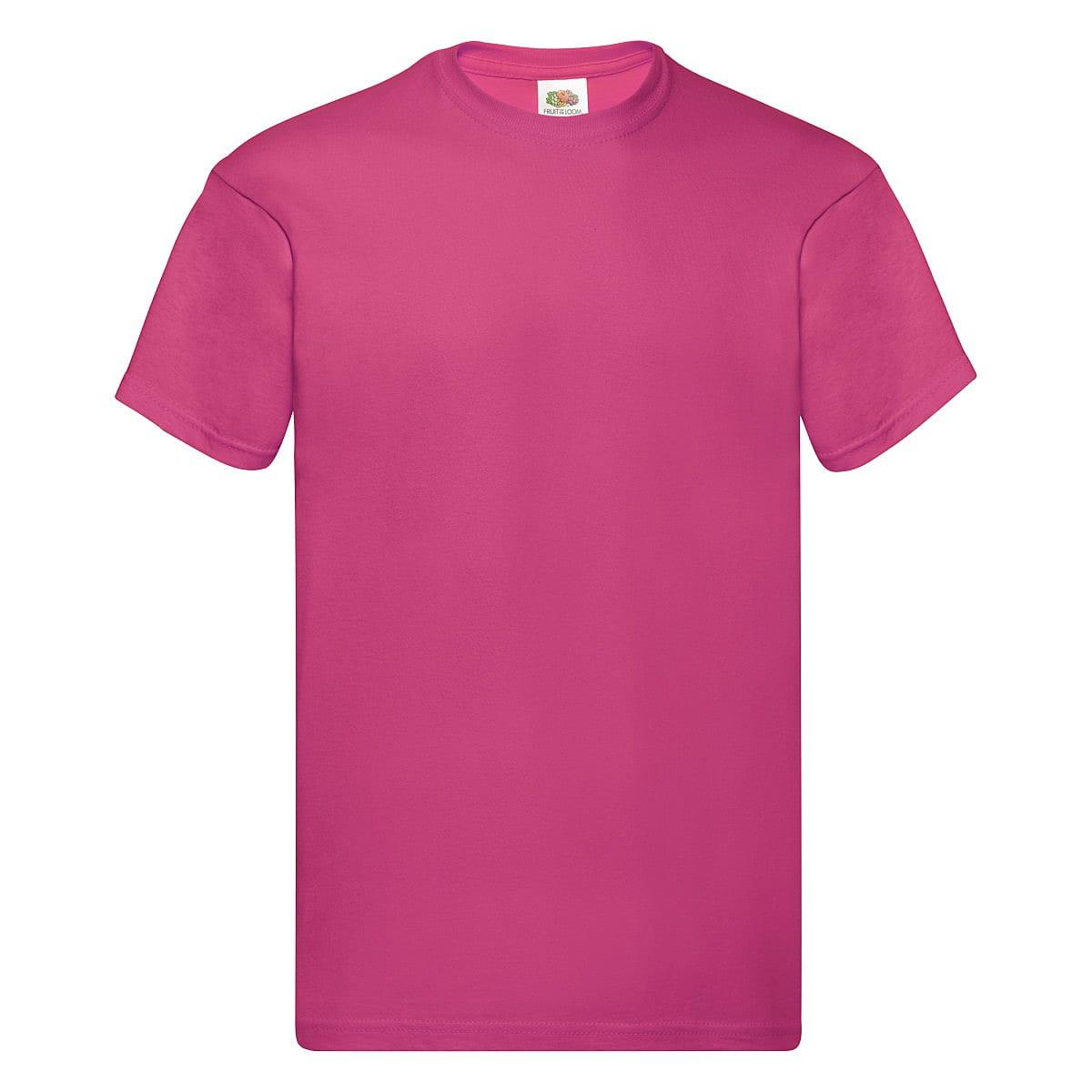 Fruit Of The Loom Original Full Cut T-Shirt in Fuchsia (Product Code: 61082)