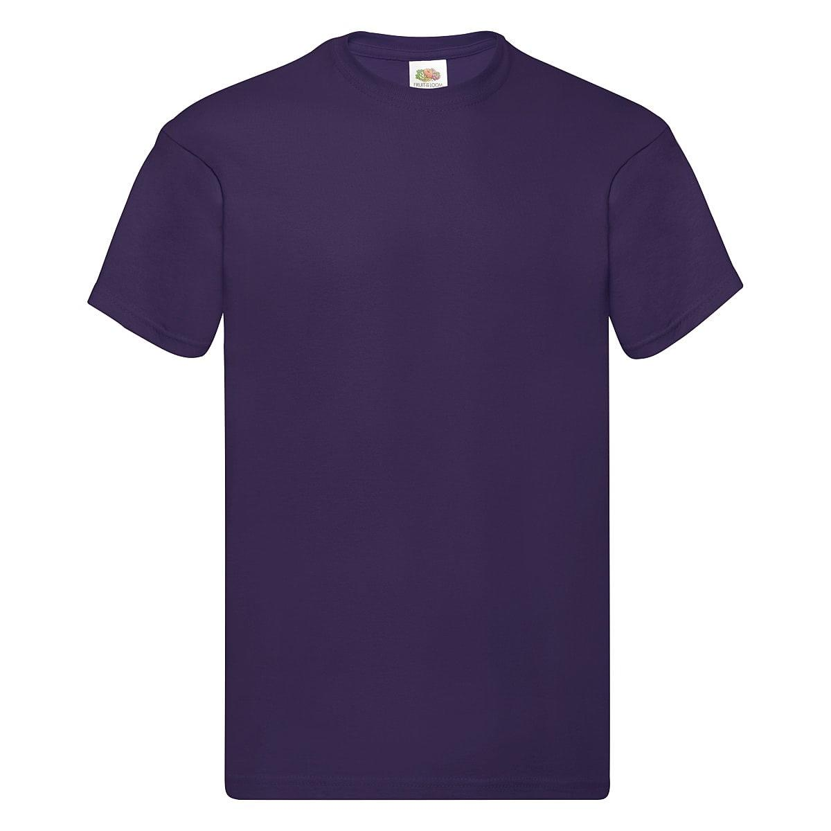 Fruit Of The Loom Original Full Cut T-Shirt in Purple (Product Code: 61082)