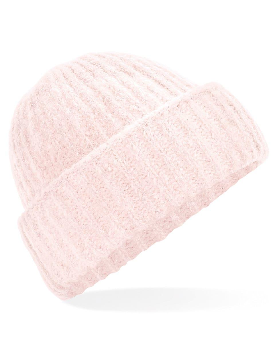Beechfield Plush Beanie Hat in Soft Pink (Product Code: B418)