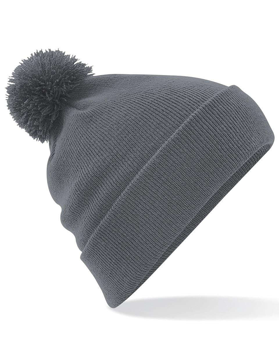Beechfield Original Pom Pom Beanie Hat in Graphite Grey (Product Code: B426)