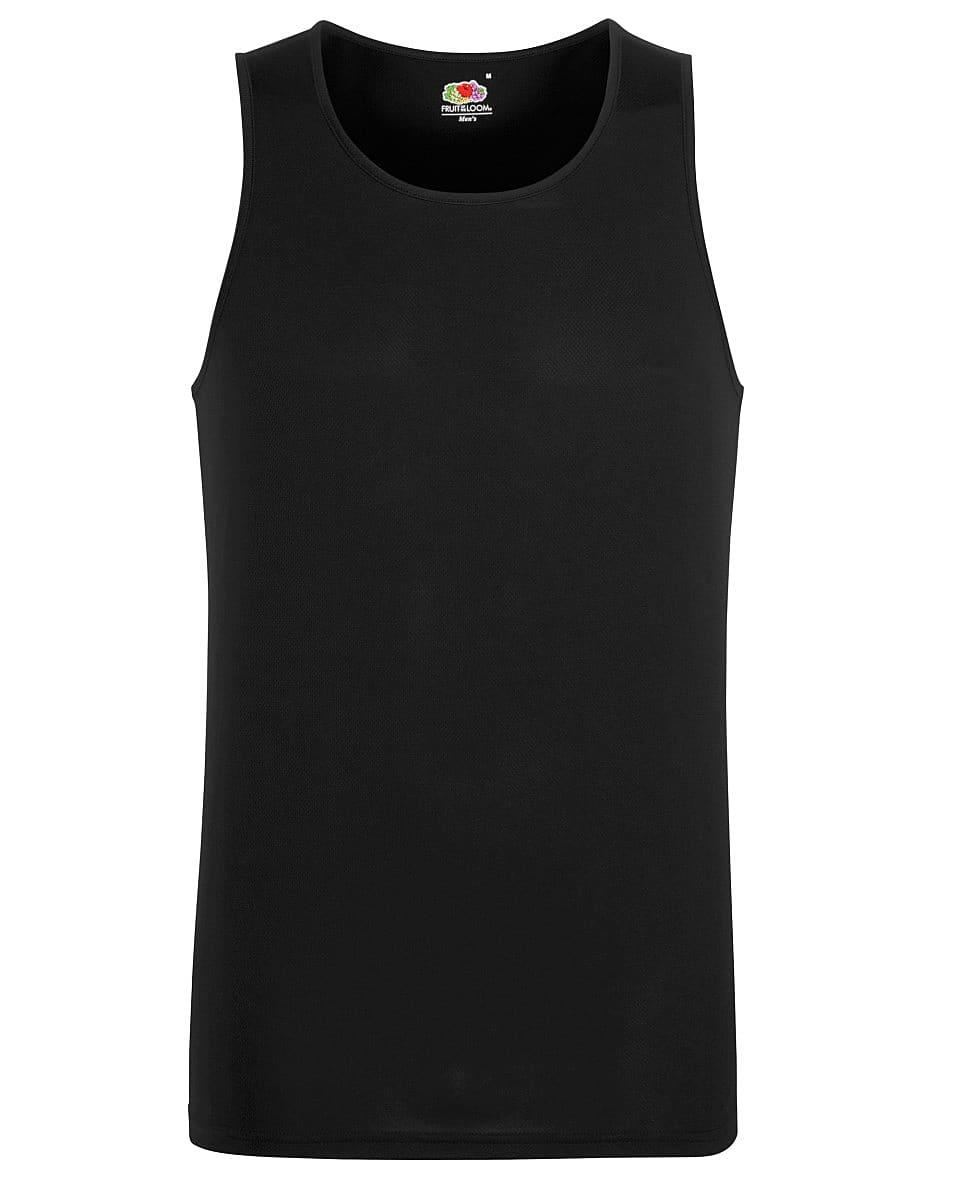 Fruit Of The Loom Mens Performance Vest in Black (Product Code: 61416)