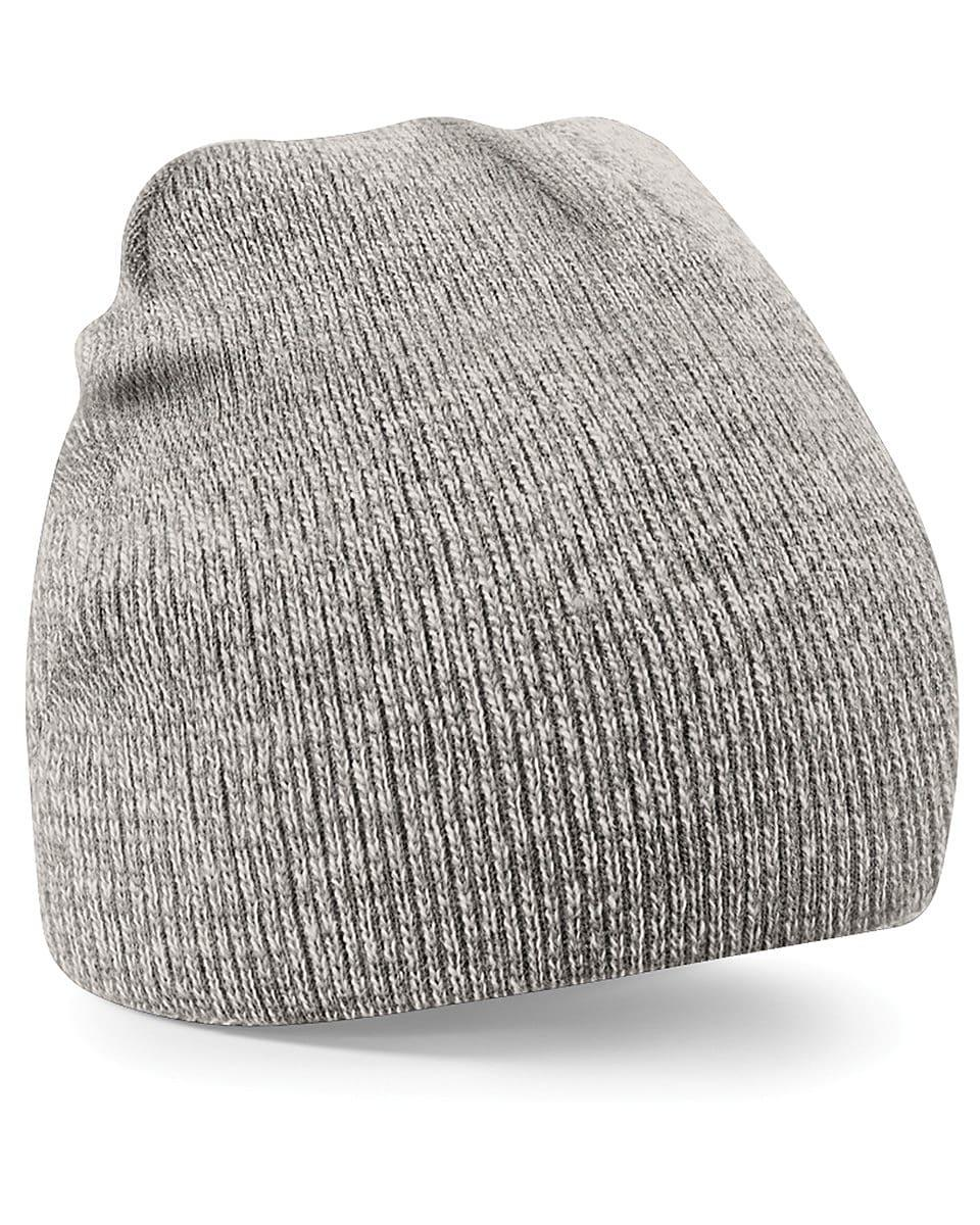 Beechfield Original Pull-On Beanie Hat in Heather Grey (Product Code: B44)