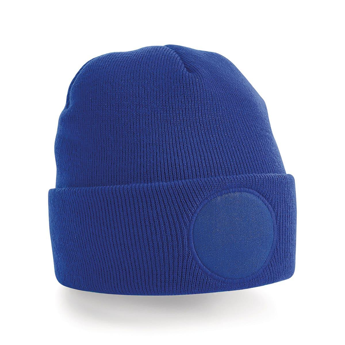 Beechfield Circular Patch Beanie Hat in Bright Royal (Product Code: B446)