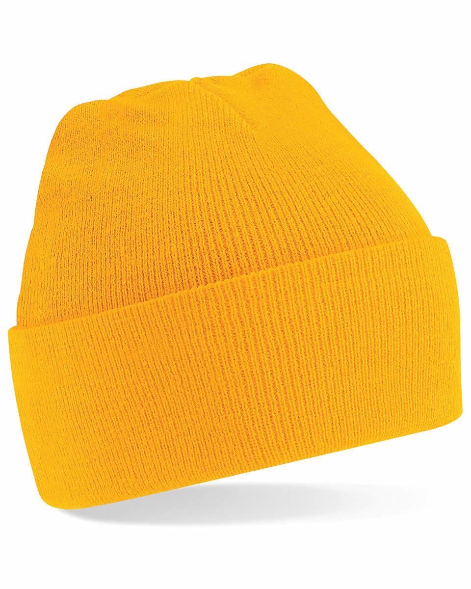 Beechfield Original Cuffed Beanie Hat in Gold (Product Code: B45)