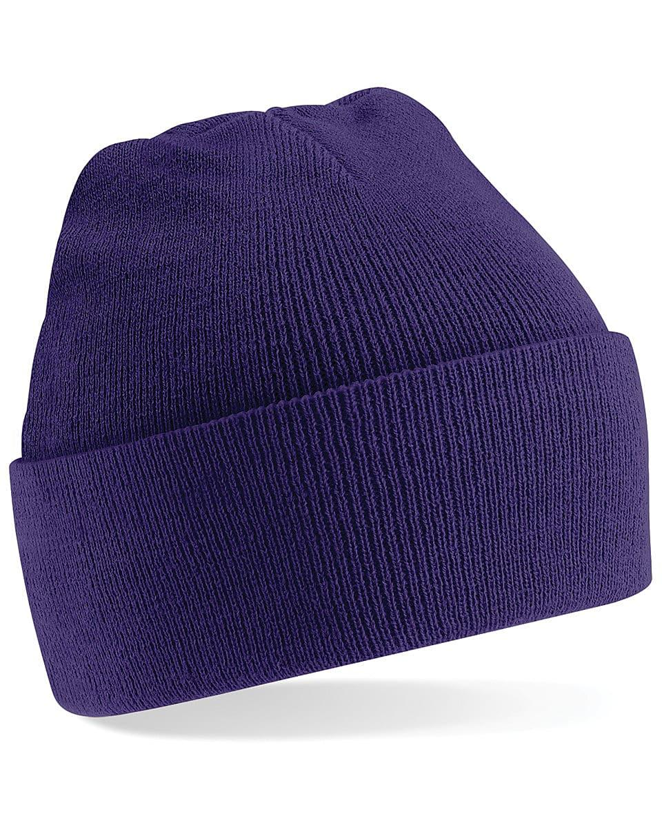 Beechfield Original Cuffed Beanie Hat in Purple (Product Code: B45)
