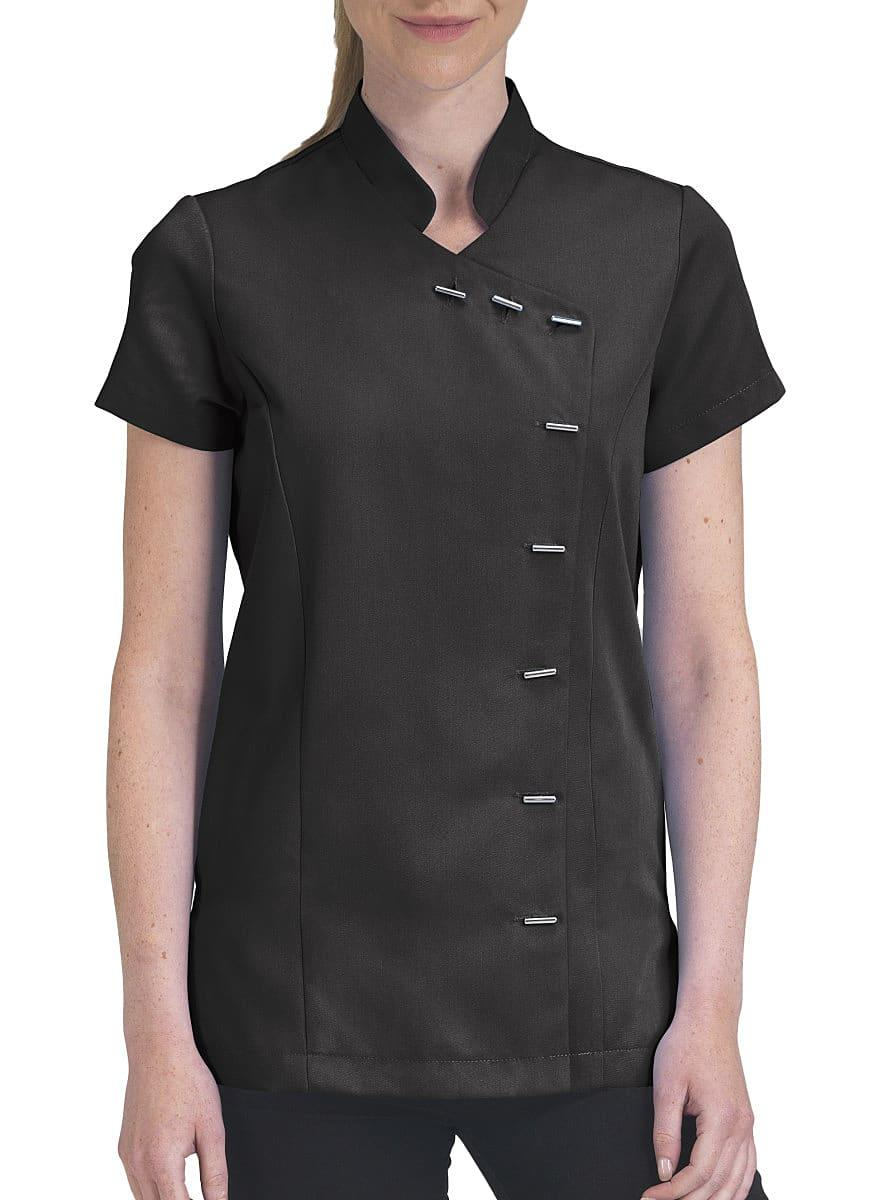 Dennys Womens Button Beauty Tunic in Black (Product Code: DA74)