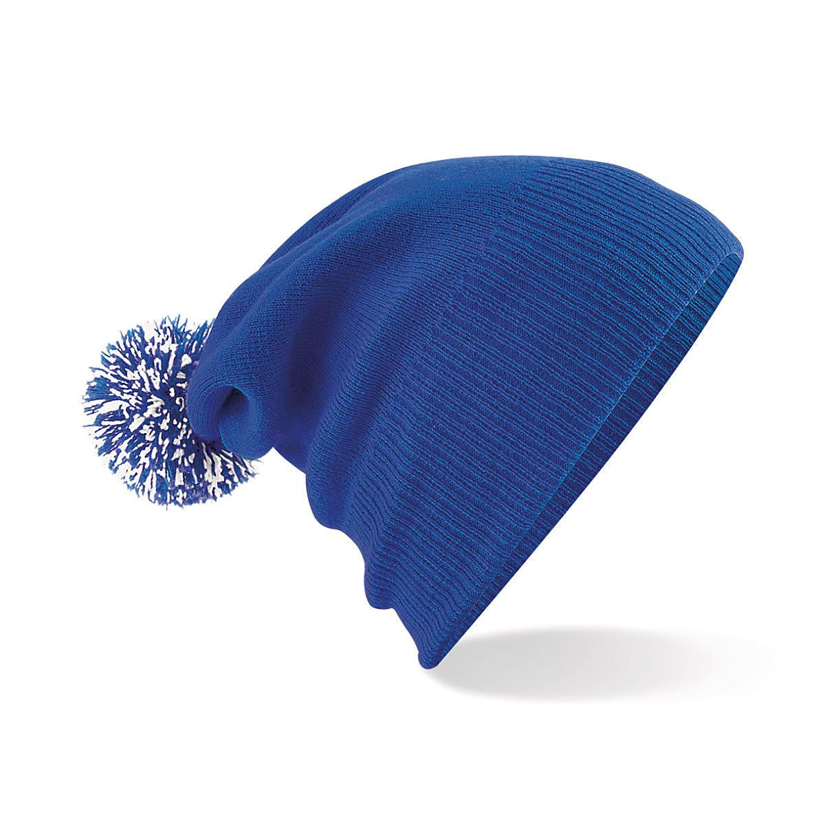 Beechfield Snowstar Beanie Hat in Bright Royal / White (Product Code: B450)