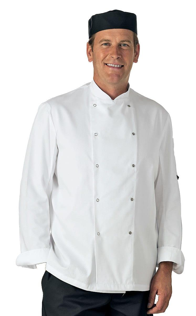 Dennys Long-Sleeve Chefs Jacket in White (Product Code: DD08)