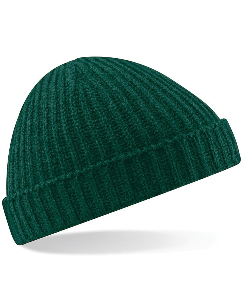 Beechfield Trawler Beanie Hat in Bottle Green (Product Code: B460)