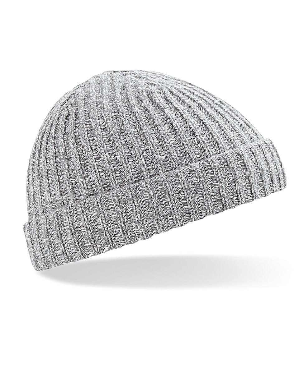 Beechfield Trawler Beanie Hat in Heather Grey (Product Code: B460)