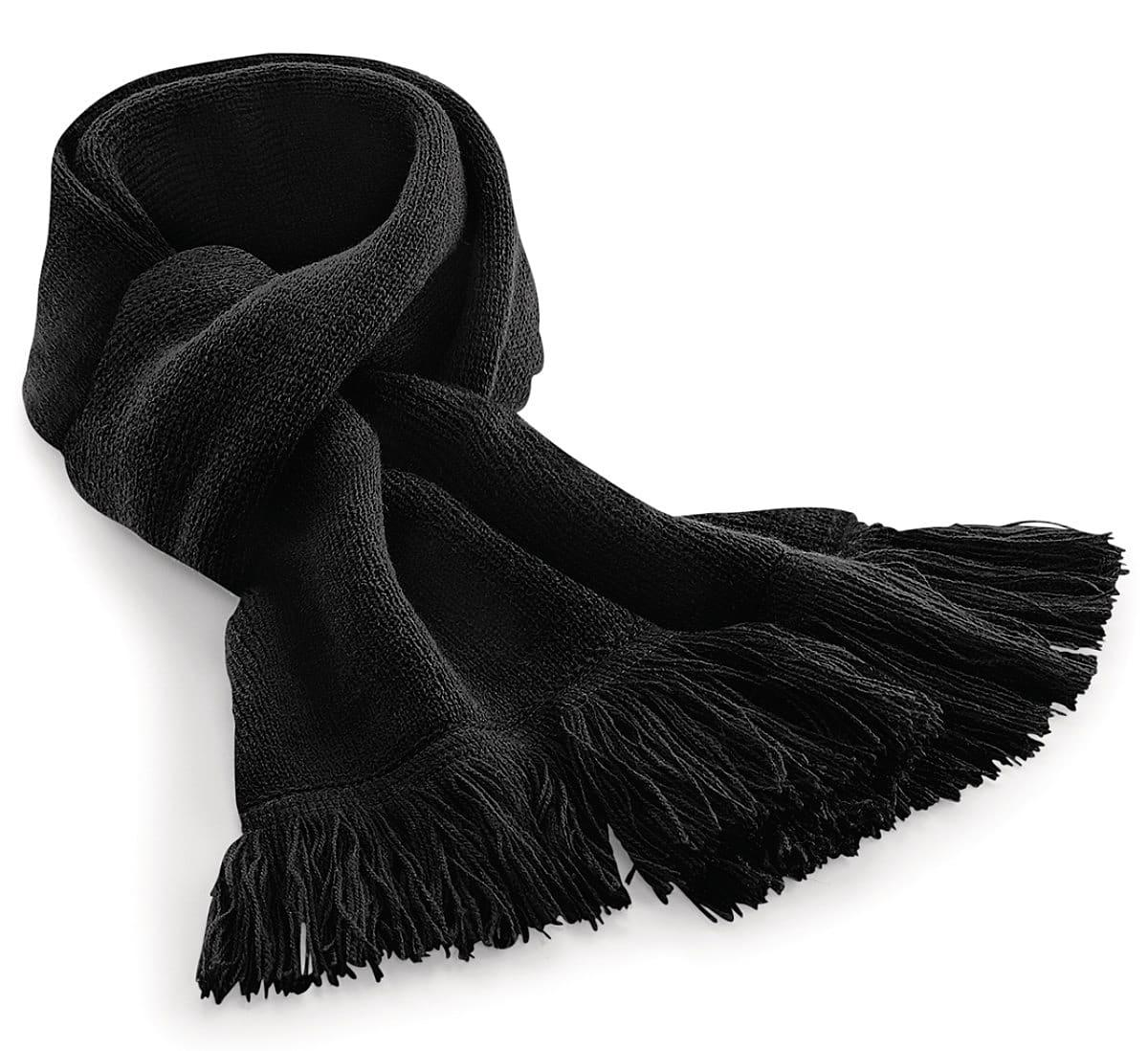 Beechfield Classic Knitted Scarf in Black (Product Code: B470)