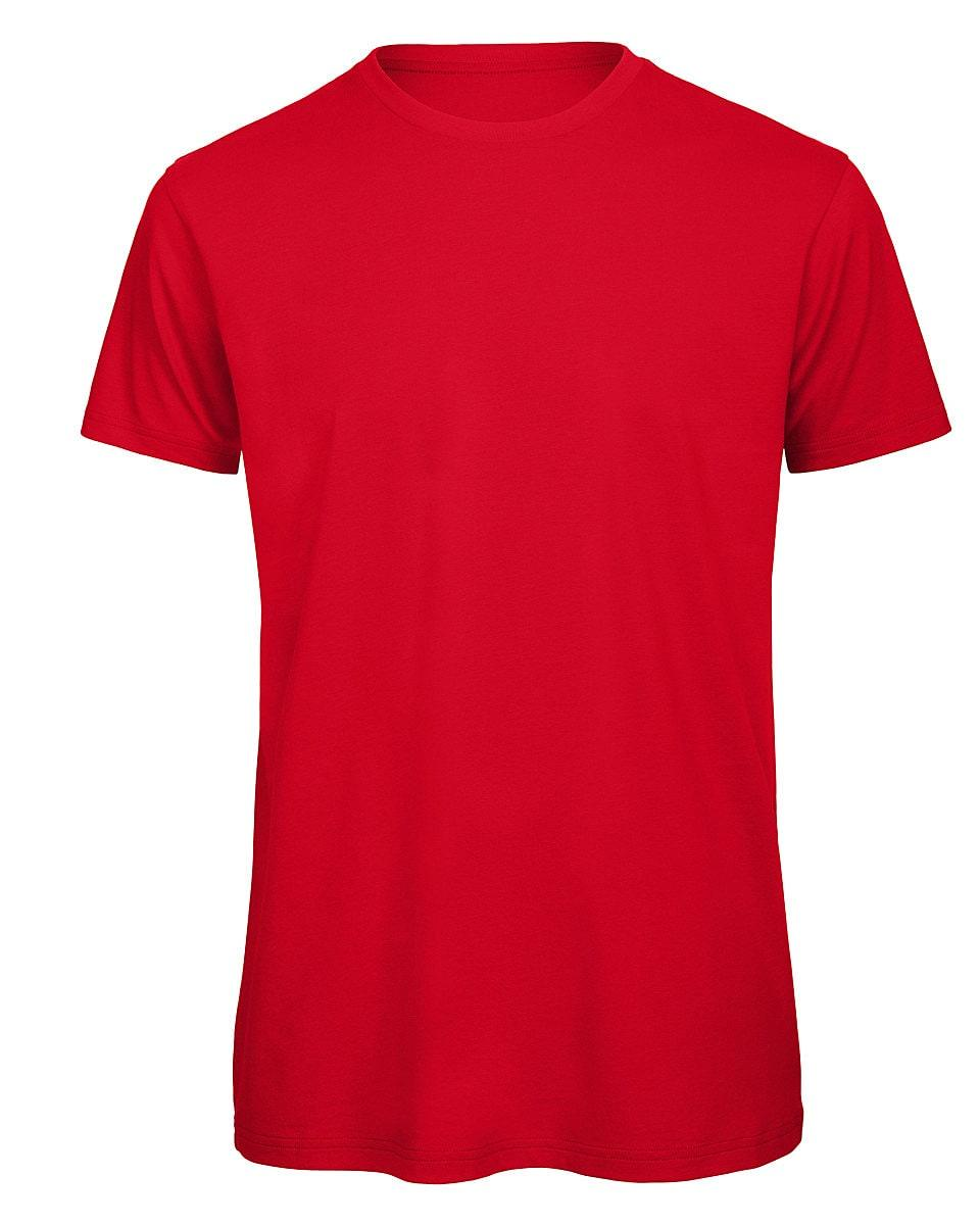 B&C Mens Inspire Crew T-Shirt in Red (Product Code: TM042)