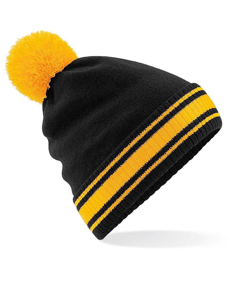 Beechfield Stadium Beanie Hat in Black / Gold (Product Code: B472)