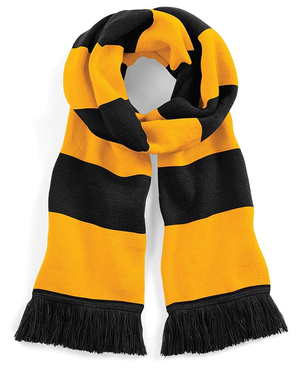 Beechfield Varsity Scarf in Black / Gold (Product Code: B479)